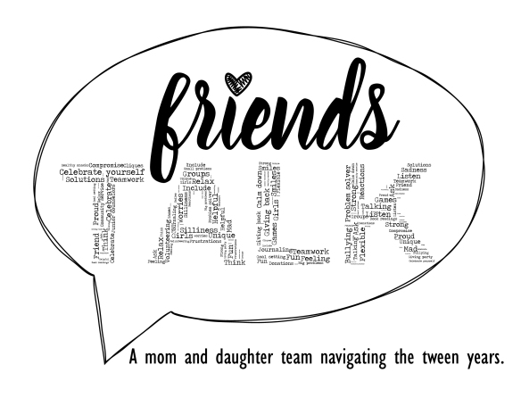 Friends TALK Logo Black Tagline
